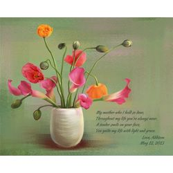 Flowers for Mother III Personalized Art Print
