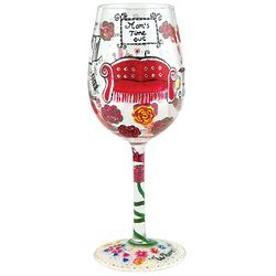 Mom's Time Out Wine Glass
