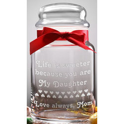 You Make Life Sweet Personalized Candy Jar