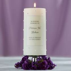Personalized Pearl-Accent Wedding Memorial Candle
