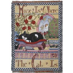 Cat Lover Tapestry Throw