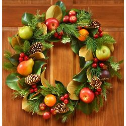 Faux Fruit and Foliage Wreath