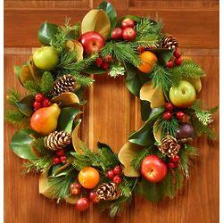 Faux Fruit and Foliage Wreath