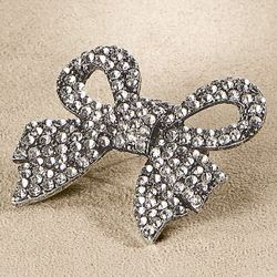 All Tied Up Bow Rhinestone Brooch Pin