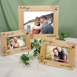 Engraved Just the Two of Us Wood Picture Frame