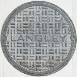 Manhole Cover Personalized Doormat