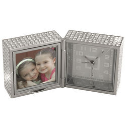 Personalized Bejeweled Photo Frame Clock