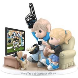 Every Day Is A Touchdown With You Carolina Panthers Figurine