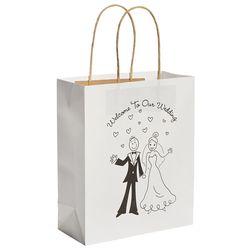 Happy Couple Kraft Paper Wedding Gift Bags