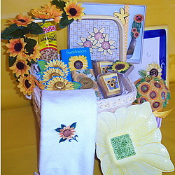 Send a Sunflower Gift Basket
