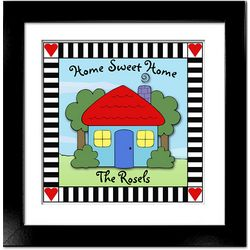 Happy Home 12x12 Framed Print