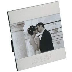 Personalized Aluminum Wedding Picture Frame