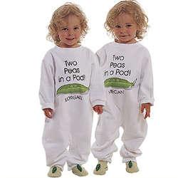 Personalized Pea Pod Fleece Romper