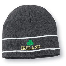 Ireland Knit Skull Cap in Grey