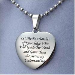 Teacher Prayer Necklace