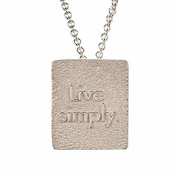 Live Simply Sterling Silver Necklace