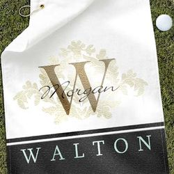 Personalized Fluer Monogram Golf Towel