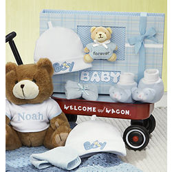 Hello Baby Boy! Welcome Wagon Gift Basket