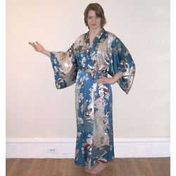 Soft Blue Silk Kimono