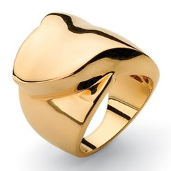 14k Gold Plated Free-Form Foldover Ring