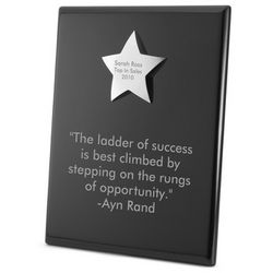 High Gloss Black Star Plaque