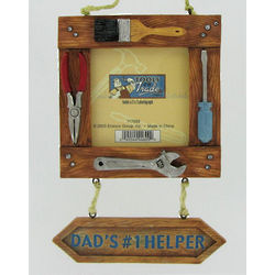 Dad's #1 Helper Photo Frame