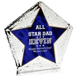 All Star Dad Personalized Acrylic Plaque