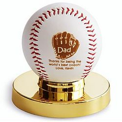 Personalized Dad Glove Design Baseball