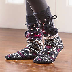 MukLuks Ornamental Slipper Socks