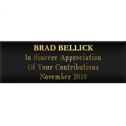 Blank Black and Gold Award Plate