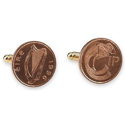 Irish Pound Coin Cufflinks