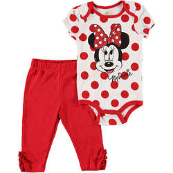 Baby's Things Are Looking Up Minnie Mouse Bodysuit and Pants
