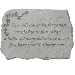 Never Forgotten Garden Stone