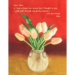 Personalized Sunshine and Tulips Art Print