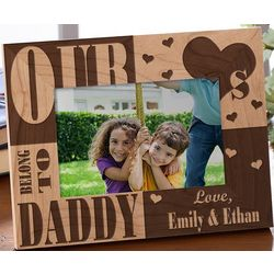 Engraved Our Hearts Belong to Him Picture Frame