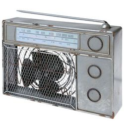 Vintage Metal Radio Fan