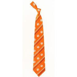 Clemson Tigers Collegiate Cambridge Stripe Necktie