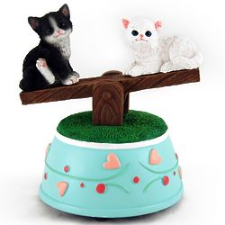Precious Kittens See-Saw Musical Figurine