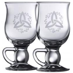 Galway Classic Trinity Knot Shamrock Latte Glasses