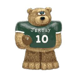 Personalized Football Teddy Bear Figurine