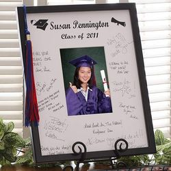 Glad Grad Personalized Autograph Frame