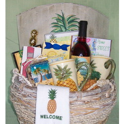 Pineapple Themed Welcome Gift Basket