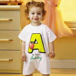 Personalized Alphabet Name T-Romper