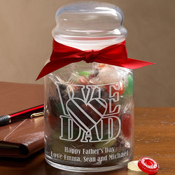 Personalized Candy Jar For Dad