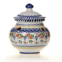 Spanish Majolica Round Garlic Keeper
