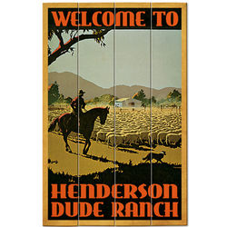 Personalized Dude Ranch Wood Plank Sign