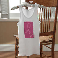 Personalized Never Give Up Breast Cancer Awareness Tank Top
