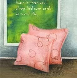 Warm Home Comfy Pillows Personalized Art Print
