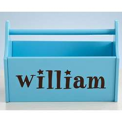 Blue Personalized Name Caddy