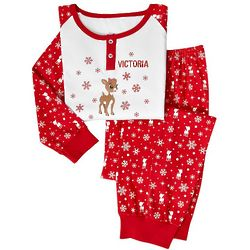 Personalized Rudolph or Clarice Toddler Pajamas